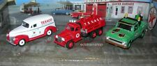 TEXACO SERVICE VEHICLES SET OF 3 CARS USA SERIES #6 1/64 BY AUTOWORLD ON DISPLAY