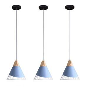 Wood Pendant Lighting Blue Kitchen Lamp Bedroom Ceiling Light Bar Pendant Lamp