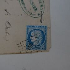 Cérès N° 60a Variety Letter Cover Variety Net D'Surround Northern Distorted