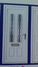 UPVC blue diamond  (Resin Lead)  Door (425.00 includes fitting)
