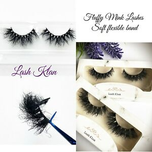Fluffy Mink Strip lashes false eyelashes short volume long