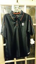 Detroit Tigers Old English D Stitches Athletic Gear Polo Shirt Adult Medium NWT