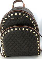 NEW Authentic Michael Kors Abbey Medium Frame Out Stud Backpack Shoulder Bag