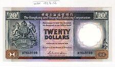 HONG KONG Billet 20 DOLLARS 1988 P192-b/2  SHANGAI BANKING NEUF UNC