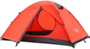 3-4 Season 2 3 Person Lightweight Backpacking Tent Windproof Camping Tent Awning