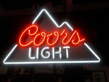 "New Coors Light Neon Light Sign 24""x20"" Lamp Poster Real Glass Beer Bar"