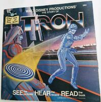 Vintage Walt Disney 384 The Story of Tron 24 Page Read Along Book Record Set