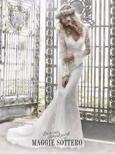 maggie sottero Gown Dahlia  5hs158 Long Sleeve Lace,Size 8 NWT Desiree Hartsock