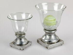 Deko Windlicht Kerzenhalter 20-25 cm aus Glaß/Keramik Winterzeit formano