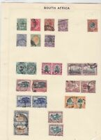 south africa stamps on page  ref 10486