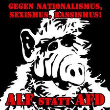 ALF STATT AFD Patch / Aufnäher Neu Punk Gegen Nazis FCK NZS FCK AFD Nazis Raus