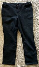 Let Riders Black Jeans Sz 18W Straight Leg Medium Length