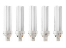 x 5 GE Biax D 13w Energy Saving 2 Pin (G24d-1) Compact Fluorescent Lamps - 3500k