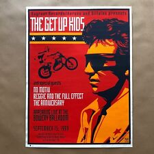 Shepard Fairey Signed The Get Up Kids 1999 Art Print Poster Vagrant Obey Giant