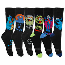 Mens Sesame Street Socks UK 6-11 Pair Assorted Design Cookie Monster Grouch Dad