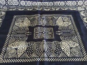 Vintage 1970's Bandana Fast Color 100% Cotton RN 15234, Indigo Color