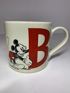 Disney Disneyland Paris Exclusive Mickey Mouse Letter B Ceramic Cup Mug VGC