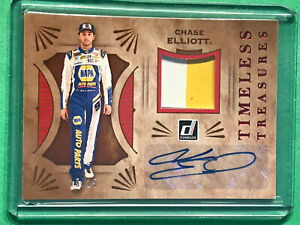 Chase Elliott 2021 Panini Donruss Timeless Treasures Patch Auto Autograph /25