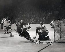 NHL 1963 Detroit Terry Sawchuk Stopping Black Hawks Murray Balfour 8 X 10 Photo