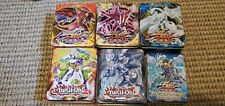 Lot (6) Yugioh Empty collector tins (2010,2011,2013)  Yu-Gi-Oh
