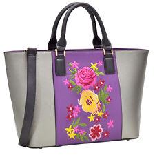 New Dasein Women Leather Tote Bag Satchel Shoulder Bag Handbag Purse w/ Wallet