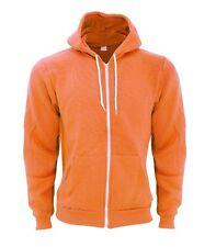 American Apparel Flex Fleece Zip Hoodie Tang Bright Orange F497 Medium