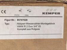 """KEMPER Wasserzählerblock DN20 Duo 3/4"""" Wasserzähler-Montageblock Figur 857"""