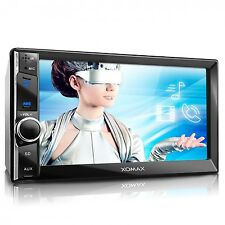 "RDS AUTORADIO 6,5"" TOUCH MP5 VIDEO MONITOR BLUETOOTH USB SD MP3 AUX DOPPEL 2DIN"