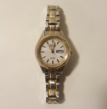 Citizen Ladies Eco Drive Bar 100 Gold Tone Silver Tone Date Day  GN 4 W S9