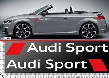 2 Audi Sport Autocollant Lettrage Car Sticker Tuning Race Voiture Décalque logo emblème