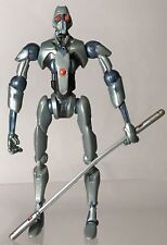 "Star Wars ROTS Magnaguard Droid Battle Attack Grievous 3.75"" Figure Staff Rare"