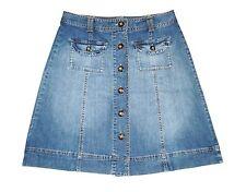 Talbots Denim Skirt Blue Jean A Line Button Up Panel Summer Sz 6P