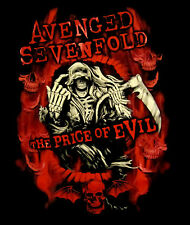 AVENGED SEVENFOLD cd lgo PRICE OF EVIL SHIRT LAST S Nightmare Flame Reaper OOP