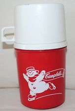 VIntage Campbell's THERMOS-SOUP HOT CHOCOLATE Lid-Cup skating snowmen
