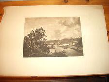 Print Etching Engraving  Jacob Van Ruysdael etched  William Hole original print