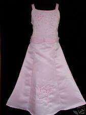 New Pink Satin Wedding/Party/Bridesmaid Dress 9-10 Years