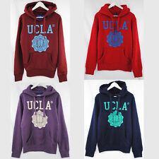 UCLA COLIN CREST HOODIE HOODY RED PURPLE BURGUNDY COLLEGE UNIVERSITY URBAN TOP