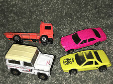 MATCHBOX Car '87 LAND ROVER Volvo Flatbed Truck 1981 HOT WHEELS 380 SEL 84 Fiero