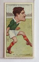 WE Crawford Ireland Footballers Caricatures 1926 John Player Cigarette Card (B5)