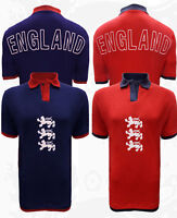 Men's England World Cup Polo Shirt Football Summer T-shirt Top 3 Lions UK M-XL