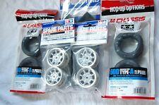 TAMIYA 1:10 RC Car F.m.Tire(53340) + Wheel(50676) + Inner(53255) set (M-chassis)