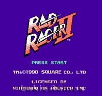 Rad Racer II 2 - NES Nintendo Game