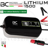 BC LITHIUM 1500 MANTENITORE DI CARICA BATTERIE LITIO LiFE PO4 12V MOTO SCOOTER