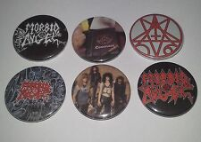 6 Morbid Angel button badges Covenant Altar of Madness Deicide Cannibal Corpse