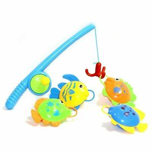 Bath Toys Water Play Fishing Game Cute Floating Fish Ideal Gift for Kids 5Pcs