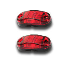 2 x 12V 2 SMD LED RED REAR MARKER LIGHTS TAIL LAMPS TRUCK SCANIA MERCEDES VOLVO