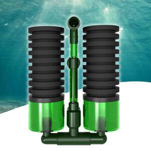 Head Fish Tank Aquarium Biochemical Double Sponge Foam Filter Equipment
