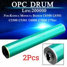 More details for 2x opc drum for konica minolta bizhub c5500 c5501 c6500 c6501 c6000 c7000