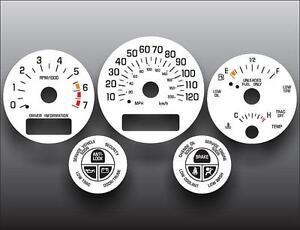1997-2004 Buick Regal Fuel Data Display Dash Instrument Cluster White Face Gauge