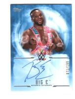 WWE Big E 2017 Topps Undisputed Blue On Card Autograph SN 71 of 199